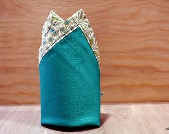Pañuelo de bolsillo - Irish green. Pañuelo de bolsillo hecho a mano con tela de algodón de gran calidad.