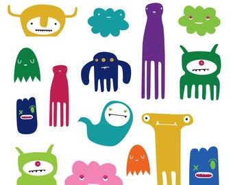 cute monster clipart etsy rh etsy com monster clipart images monster clipart