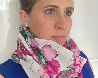 Cotton voile scarf/Snood