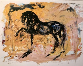 "Blank Horse Card ""Equine: Essence"""
