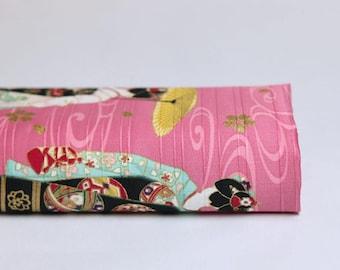 Fabric Japanese Maiko - Maiko, Japanese geisha fabric Japanese fabric, kimono, kimono fabric pink