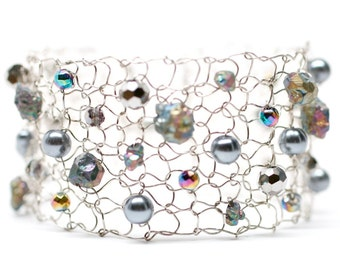 pyrite bracelet delicate bracelets rainbow pyrite chalcopyrite beaded bracelet arm cuffs pearl cuff bracelet modern chic fashion jewelry