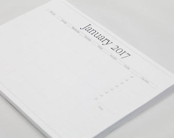 Elegant Planner 2017, 72 tear away pages, A4, Weekly planner, gift for families, Gift idea, planners, to do list, get organised