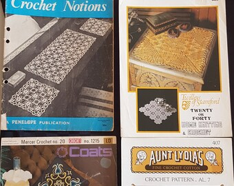 Vintage Crochet Patterns Pamphlets/Booklets - in excess of 30 patterns