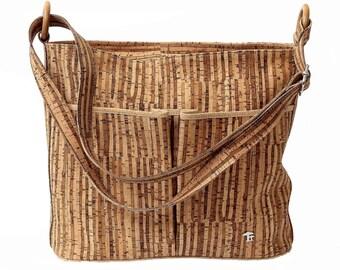 Cork bag, shoulder bag, ladies handbag