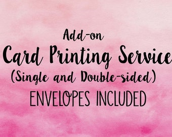 PRINTING SERVICES- Card Printing Service- Invitation Printing-Printed Invites-Double Sided Printing-Single Sided Printing