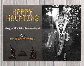 Halloween Greeting - Happy Hauntings!