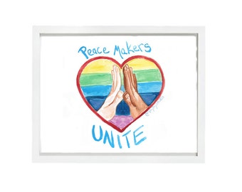 Peace Makers Unite, Print, Diversity and inclusion matters, Love Trumps Hate