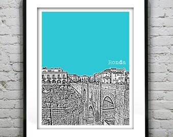 Ronda Spain Poster Art Print City Skyline