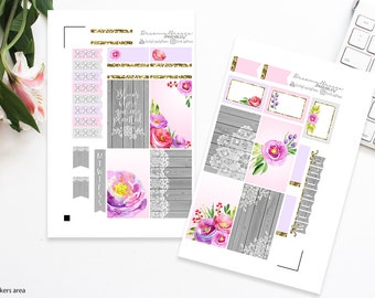 Spring Mini Kit | Bloom | Printable Planner Stickers | Happy Planner