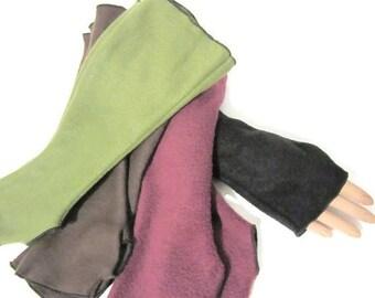 ON SALE Arm Warmers, Fingerless Gloves Fleece Wrist Hand Warmers, Gift For Her, Handmade Harry Potter, Halloween Christmas Gift Women Hanukk