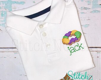 King Cake Vintage Stitch Collared Shirt, King Cake Shirt