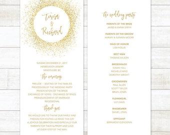 Wedding Program Template, Wedding Program Printable, Custom Wedding Program, Editable Wedding Program