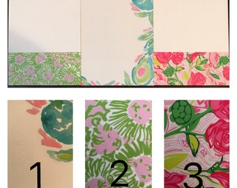 Lilly Pulitzer Inspired Notepad
