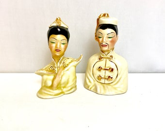 Mid-Century Chinese Man and Woman Decor   GC3236