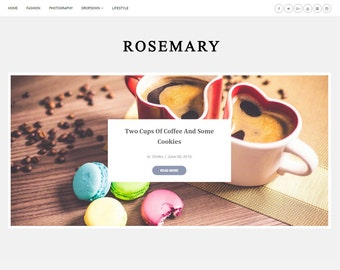 SALE! Blogger Responsive Template - Rosemary