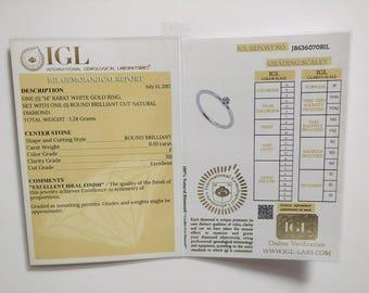 Diamond Ring Certification ~ Gemological Lab Report ~ Diamond Report ~