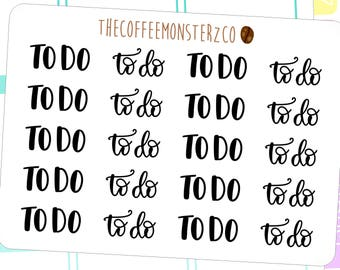 to do word stickers - hand lettered planner stickers W002
