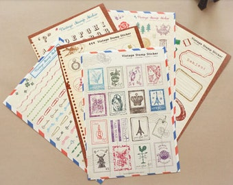 198 Vintage stickers for scrapbooking