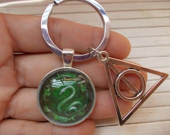 harry potter, Slytherin Keychain
