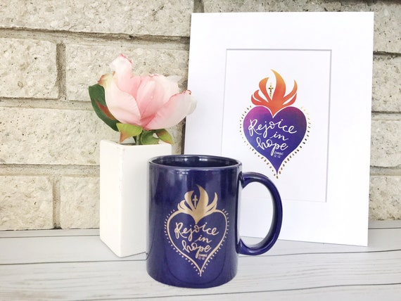 Ceramic Coffee Mug * Catholic Christian Coffee Mug * Catholic Print * Handlettered Gifts * Sacred Heart Print * Drinkware * Gifts for Her *
