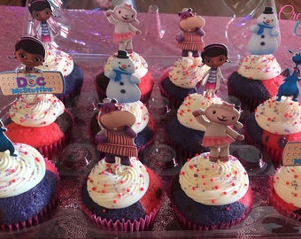 Doc Mcstuffins inspired Cupcake toppers/Centerpiece