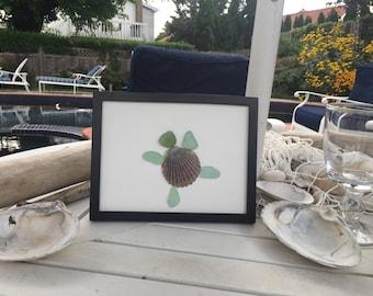 turtle, sea glass