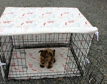 Dog crate cover and pad set . pet crate mat . pet crate cover. pet crate mat. cage liner
