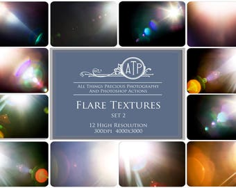 12 High Res Fine Art Digital LENS / SUN flare Overlays Set 2