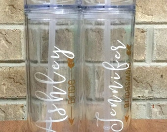 Wedding Party Skinny Tumbler