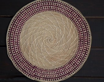 Pair of Woven Placemats- Wall Hangings