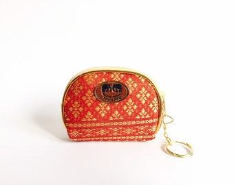 Red-Gold Coin Purse - Perfect Gift From Thailand
