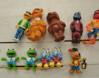 Vintage Muppet Figures Set of 9