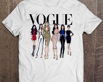 Inspired Kardashians Shirt Vogue T-Shirt Kim Kardashian shirt Kylie Jenner tshirt Vogue t shirt Khloé Kardashian shirt Kendall Jenner Shirt