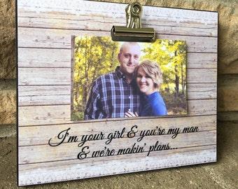 Customized Wedding Song Lyrics, Anniversary Gift, Wedding Gift, Miranda Lambert - Cause I'm Your Girl, 8x10 Photo Board