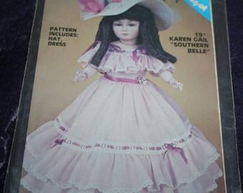 Karen Gail 19 inch Southern Belle doll dress pattern