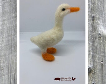 Duck, goose, needle felted, felt duck, felt goose, farm, gander, duckling, geese, barnyard
