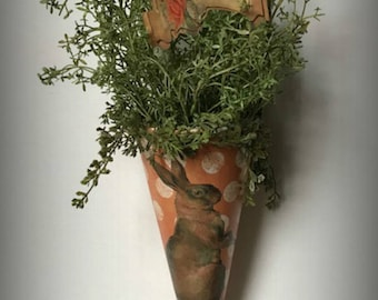 Victorian Carrot Cone, Easter Tussie Mussie, Easter Decoration,