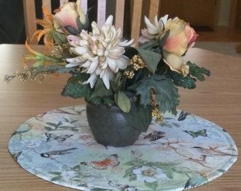 Summer Birds and Butterflies Reversible Table Centerpiece