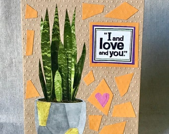 I Love You Greeting Card - Anniversary, Birthday, Just Because, Special Occasion, Relationship, Plant Lover