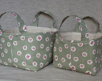 Fabric Boxes - Set of 2
