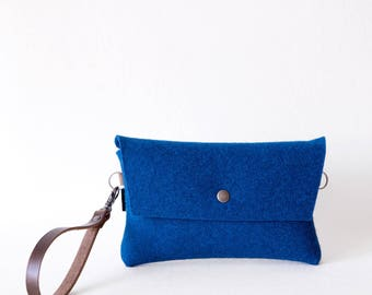Tiny Clutch in Deep Blue