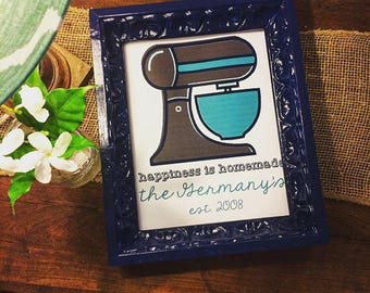 Happiness is Homemade stand mixer--printable digital download