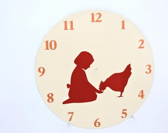 Child and Chicken Clock