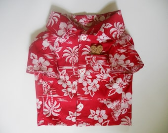 Tropical Camp style shirt for Dogs size Medium
