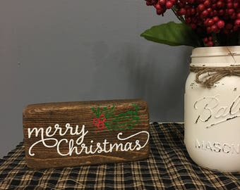Merry Christmas Shelf-Sitter Sign