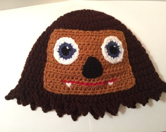 Chewbacca Beanie/ Hat with a Face - All Sizes