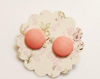Pink Stud Earrings, Retro Earrings