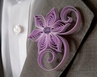 Radiant Orchid Wedding, Iris Boutonniere, Iris Purple Buttonhole, Orchid Wedding, Iris Wedding