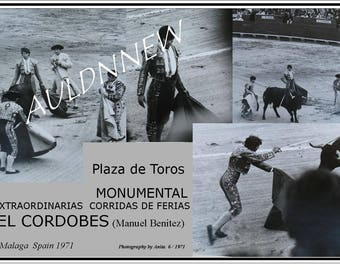 MEMORABILIA 1971  BULLFIGHT Event Photos / El CORDOBES Malaga Spain